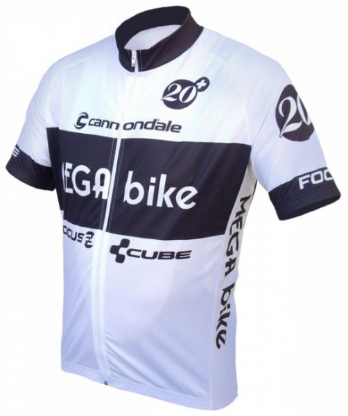 "MEGA bike Trikot ""White"" kurz"
