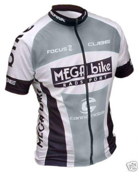 MEGA bike Team Trikot kurz - grau