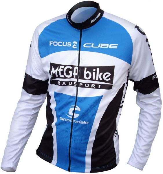 MEGA bike Team Trikot lang - blau
