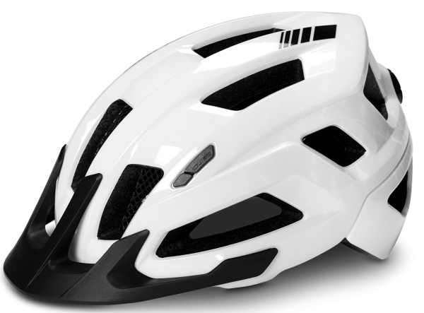 "Cube Rad Helm ""Steep"" glossy white Gr. M"