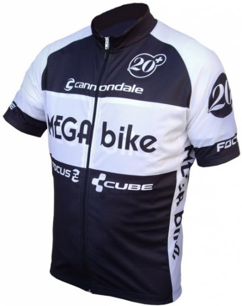 "MEGA bike Trikot ""Black"" kurz"