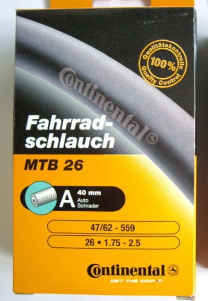 10 x Continental Schlauch MTB 26 (A40)