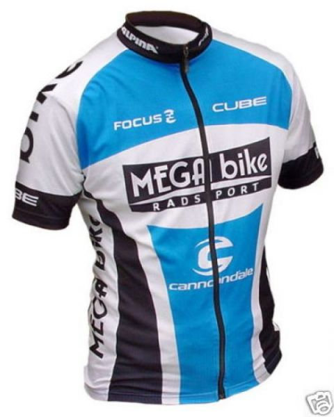 MEGA bike Team Trikot kurz - blau