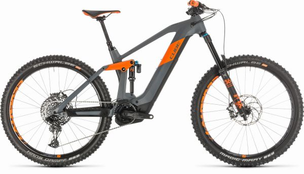 "CUBE ""Stereo Hybrid 160 HPC TM 625 27,5"" grey´n´orange 2020"