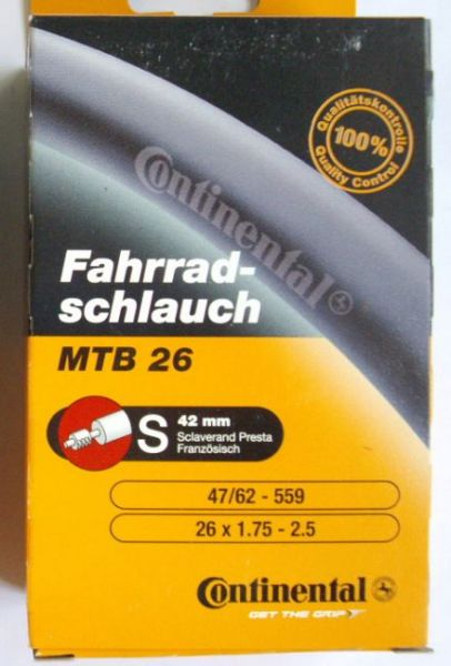 10 x Continental Schlauch MTB 26 (S42)